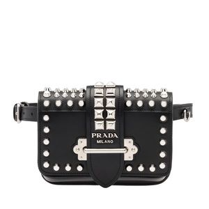 Prada Studded Cahier Belt Bag